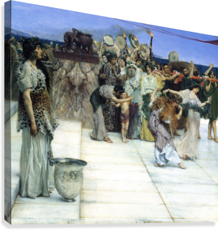 A consecration of Bacchus, detail -1- by Alma-Tadema  Canvas Print